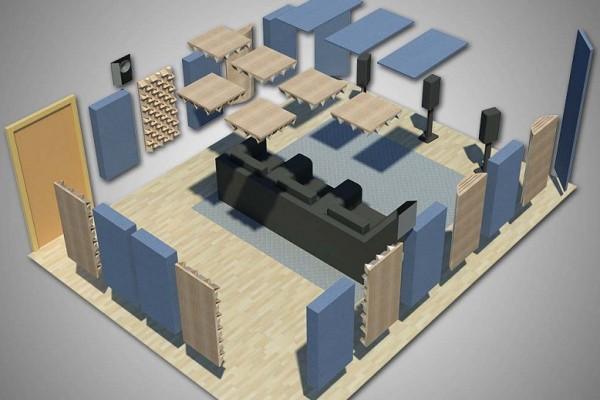 Пример акустической обработки Домашнего кинотеатра